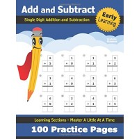 Single Digit Addition and Subtraction: Practice Workbook - 100 Days of Timed Tests -