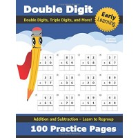Double Digit Addition and Subtraction: 100 Practice Pages - Add and Subtract - Double
