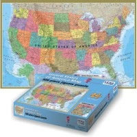 USA Map 500 pc HEMA Floor Puzzle