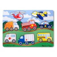Vehicles Peg Fresh Start Wooden Puzzle