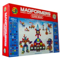 Magformers Super Brain 256 pc Deluxe Magnetic Building Set