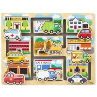 Vehicles Maze Wooden Puzzle