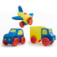 First 3 Vehicles Set - Wooden Truck, Car, & Plane