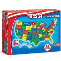 USA Map 51 pc Floor Puzzle