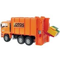 Bruder Toy Garbage Truck Rear Loading Orange