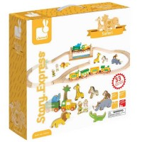 Story Express Safari Wooden Train Set