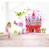 Princess Castle MagnetiStick Magnetic Wall Stickers Set