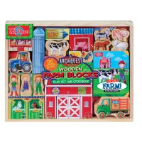 Farm Wooden Blocks Play Set & Storybook