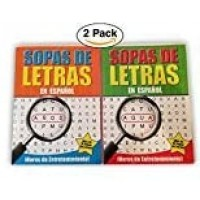 2 Pack Spanish Word Search Book Jumbo96 Page Each Easytosee Full Page Seek