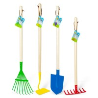 Kids Gardening 4 pc Big Metal Tools Set