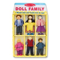 Doll Family 7 Wooden Dolls Set