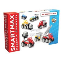 Smartmax Rescue Team Vehicles Magnetic Building Set