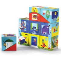 Build a House Puzzle Blocks Mix n Match Set