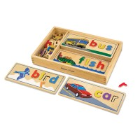 See & Spell Wooden Learn to Read Activity Toy