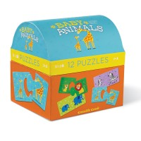 Baby Animals 12 Puzzles Set in a Gift Trunk