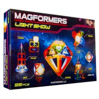 Magformers Light Show 55 pc Magnetic Construction Set