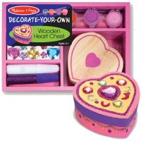 Decorate Your Own Wooden Heart Box Girls Craft