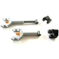 Lego Technic 2 X Mechanical Control Cylinder Linear Actuator Mini With Brackets