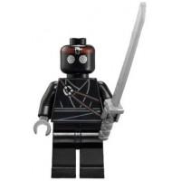 Lego Teenage Mutant Ninja Turtles Theme Minifigure Foot Soldier With Sword Black