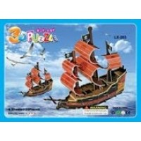 Pirate Ship Educational 3D Puzzle Diy