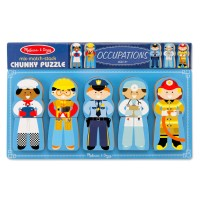 Occupations Kids Mix & Match Chunky Wooden Puzzle