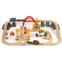Brio Deluxe Cargo Railway 54 pc Wooden Train Set