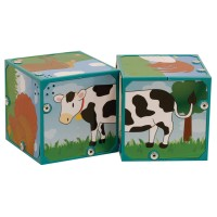 Farm Animals Sound Blocks Matching Set