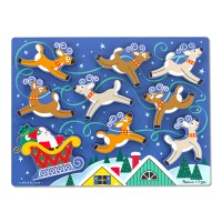 Santa & Reindeer Christmas Chunky Puzzle for Toddlers