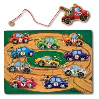 Tow Truck Game Magnetic Wooden Puzzle