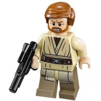 Lego Star Wars Minifigure General Obiwan Kenobi With Blaster Gun