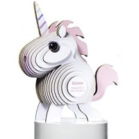 Dodoland Eugy Unicorn 3D Puzzle Educational Kid Toys 28 Piece Puzzle Great For Gifts Home And