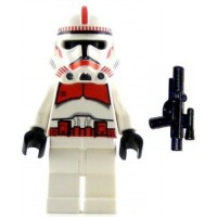 Lego Star Wars Minifig Clone Trooper Episode Iii Red Markings Shock
