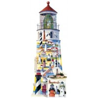 Great American Puzzle Factory Lighthouses Usa 600 Piece