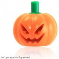 Lego Parts Halloween Pumpkin With Green Stem Jack O Lantern Headgear Minifigure Accessory x1