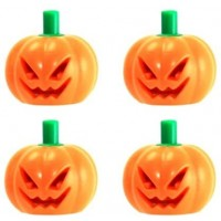 Lego Halloween Pumpkin With Green Stem Jack O Lantern Headgear Minifigure Accessory Pack Of
