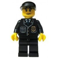 Lego Police Officer Black Cap City 2