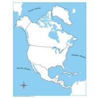 Kid Advance Montessori Puzzle Map Of North America With Control