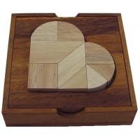 Heartbreak Tangram Wooden Puzzle Brain
