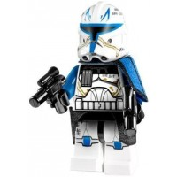 Lego Star Wars Clone Captain Rex Minifigure 2013 With Blasters From Set