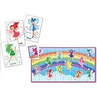 Peaceable Kingdom Fairies 24 Card Color Match Up Memory Game And Floor