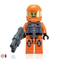 Lego Space Galaxy Squad Minifigure Ashlee Starstrider With Space Blaster