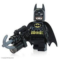 Lego The Movie Batman Minifigure With Dualsided Face Smiling And Scowling With Batarang And Harpoon