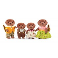 Calico Critters Chocolate Labrador Family Doll Set