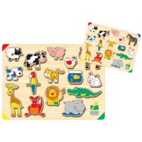 Animals Lift & Learn Wooden Puzzle