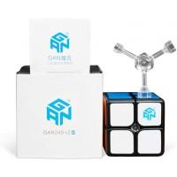 Gan 249 V2 M 2X2 Magnetic Speed Cube 249M Mini Cube Magic 2X2X2 Puzzle Toy Black