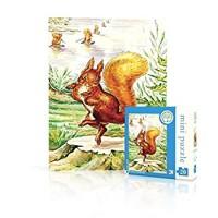 New York Puzzle Company Beatrix Potter Squirrel Nutkin Mini 20 Piece Jigsaw