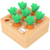Trraple Montessori Toys Wooden Memory Games Pull Insert Carrot Matching Game For Children Above 3