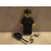 Lego City Cop Police Officer Custom Minifigure With Radio And