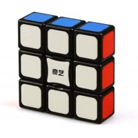 Cuberspeed Qiyi 1X3X3 Super Floppy Stickerless Magic Cube 3X3X1 Black Titles Version Speed