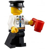 Lego City Airport Minifigure Airline Pilot Captain With Id Badge And Mug